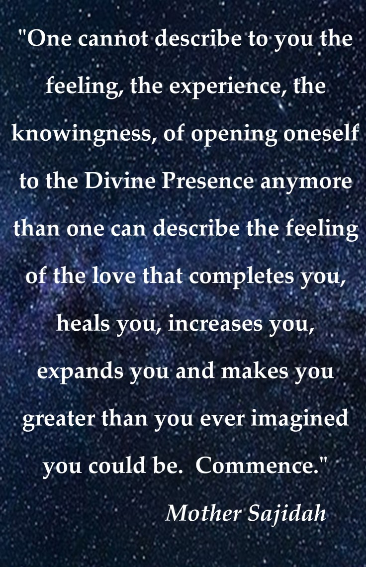 The Feeling of the Divine Presence1